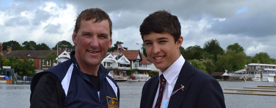 Harry meets Sir Matthew Pinsent